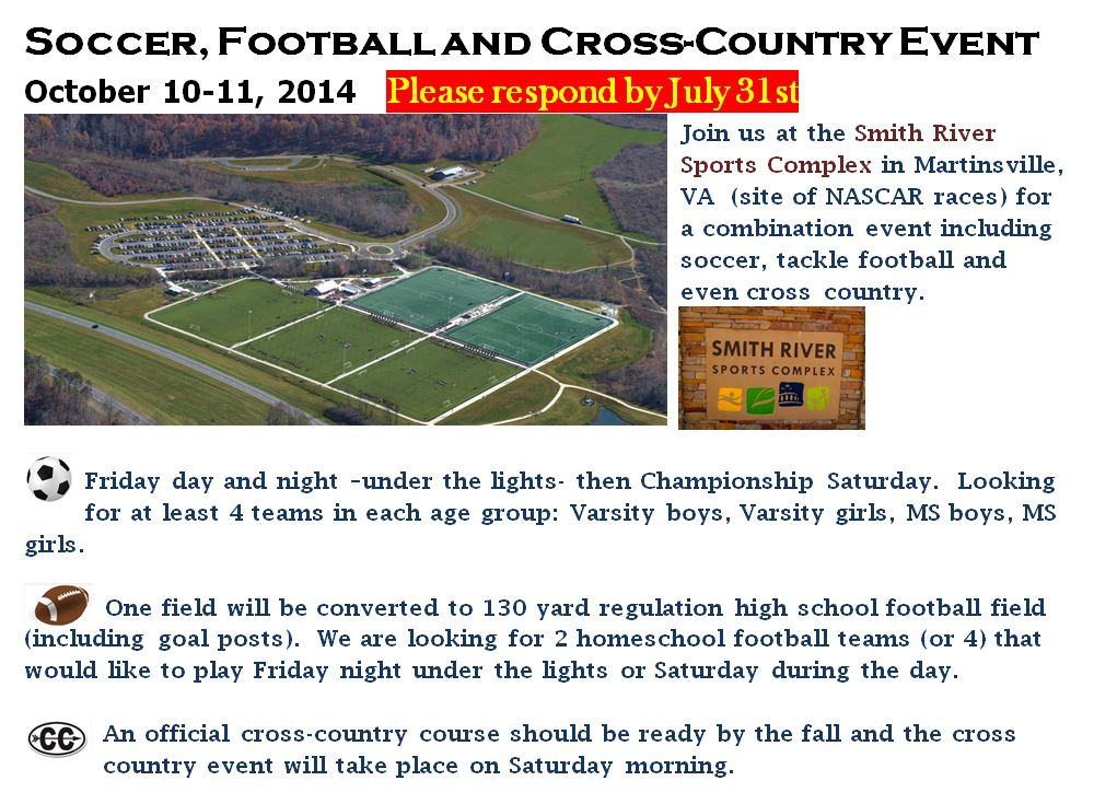 2014 Fall Soccer, Cross Country, Tackle Football event