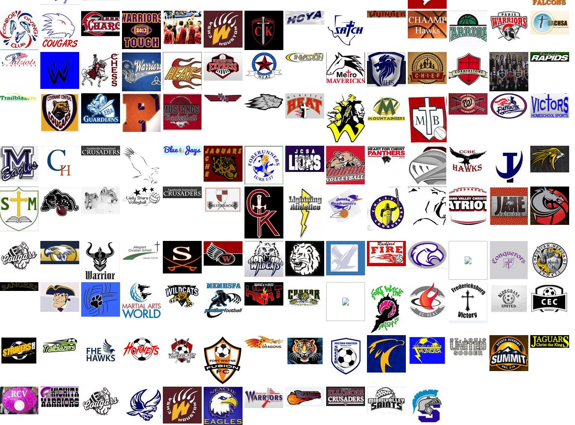 The Big Wall of Homeschool Team Logos