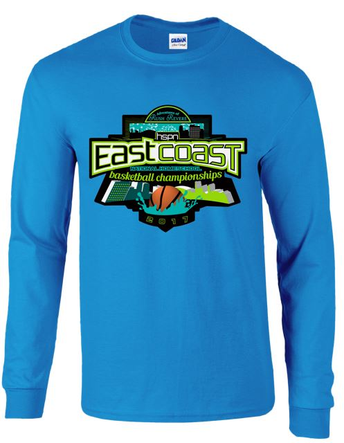 Long Sleeve Tee for the 2017 Tournament (front)