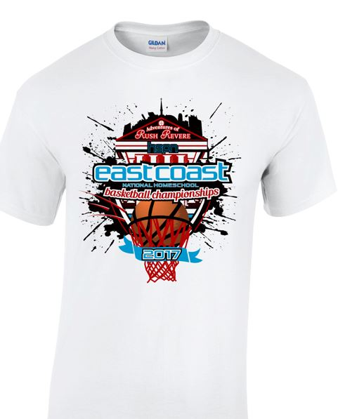 Short sleeve t-shirt for the 2017 Tournament T-Shirt (front)
