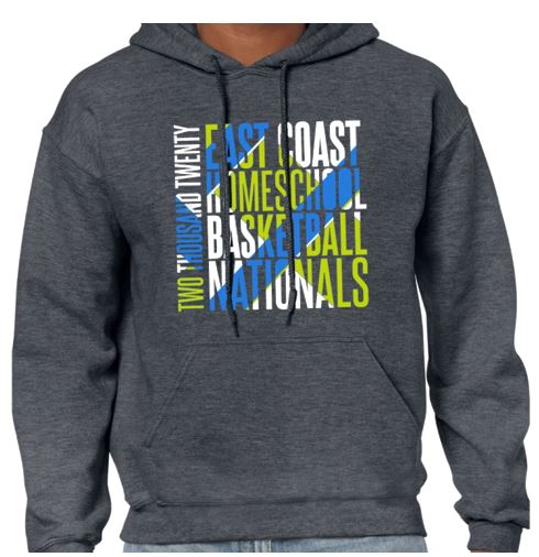 Heather Gray HOODIE for the 2020 Tournament T-Shirt (front)