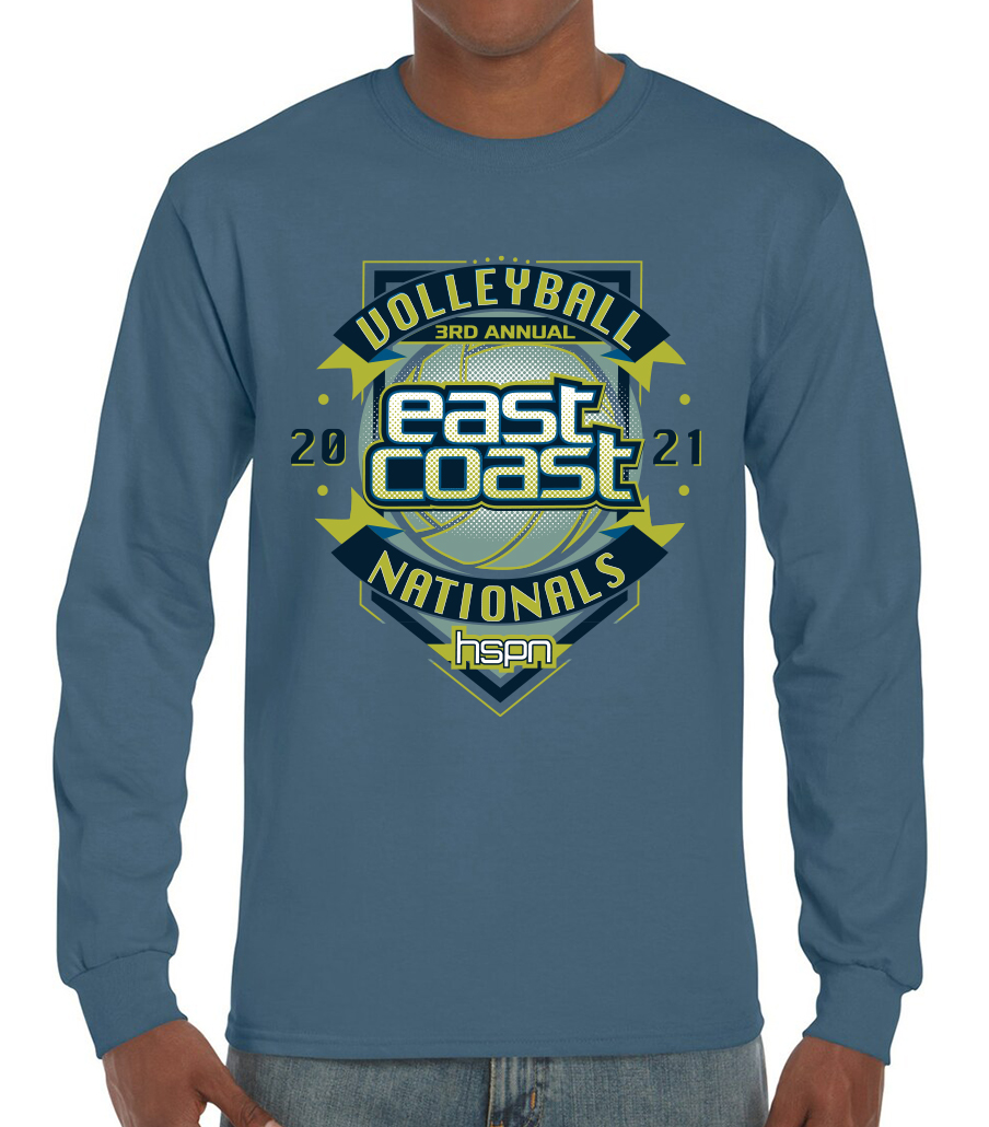 Long sleeve tee for the 2021 Tournament T-Shirt (front)