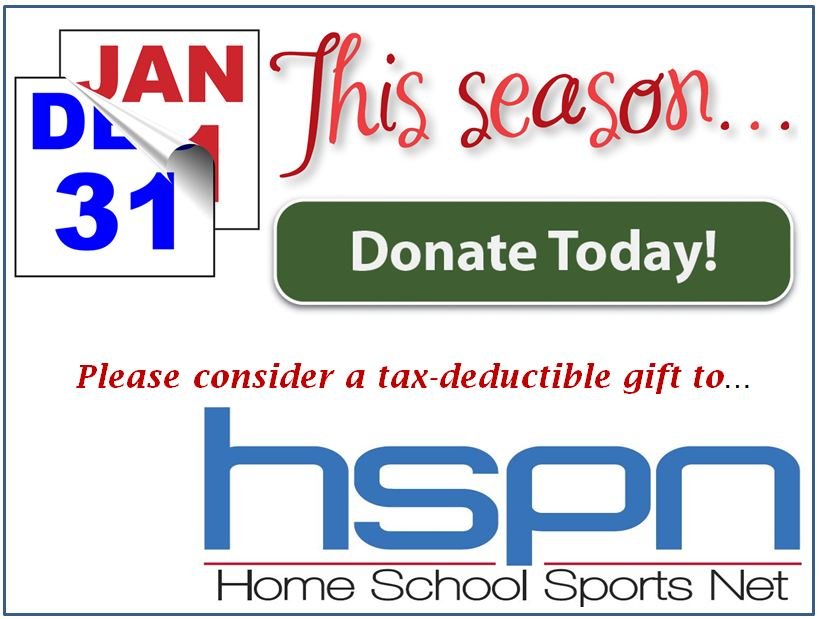Keep the Homeschool SportsNet website on the web by donating!